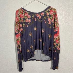 Free People Floral Long Sleeve Shirt Small